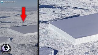 """LASER CUT"" Iceberg In Antarctica DOESN"