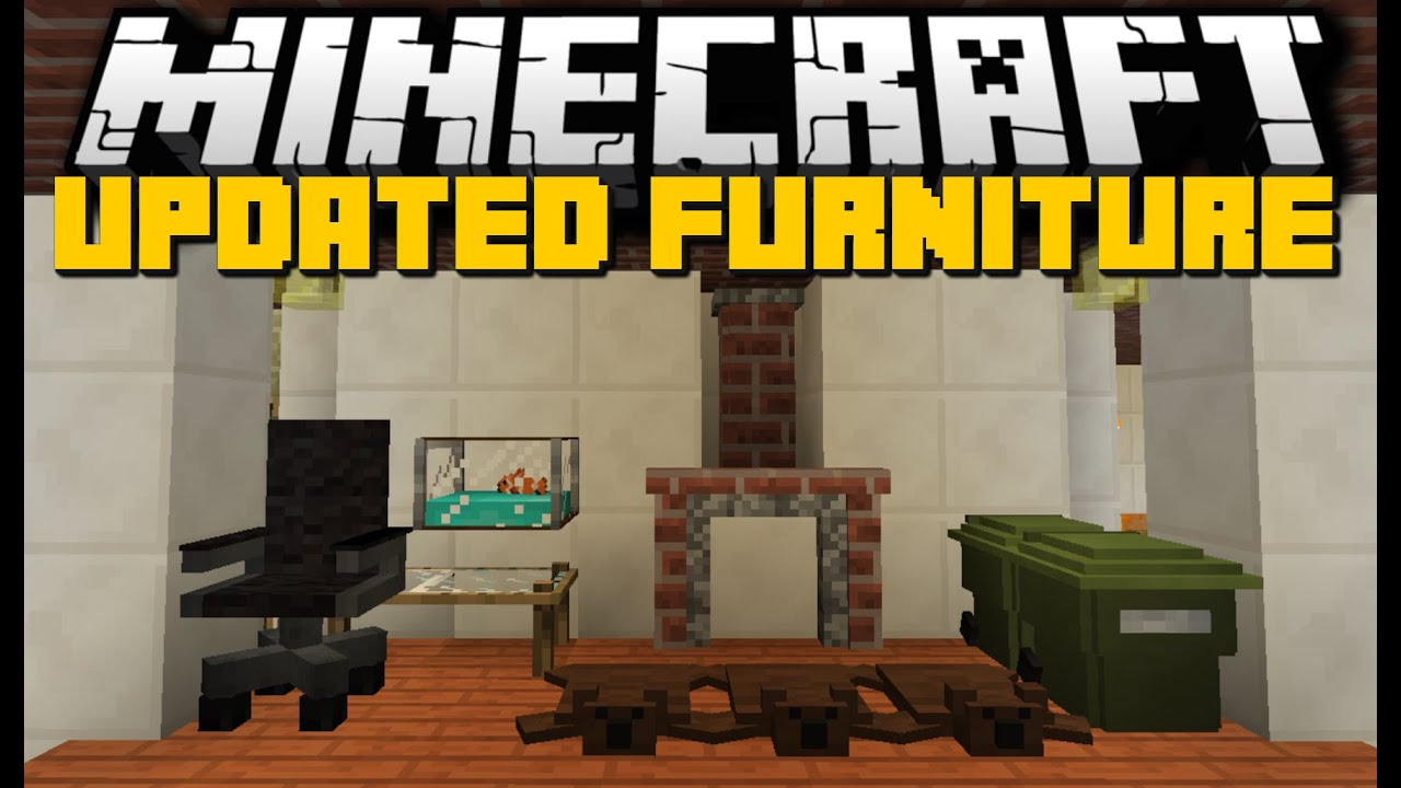 Minecraft: NEW FURNITURE MOD (Chairs, Kitchens, Workplaces & More) Mod Showcase