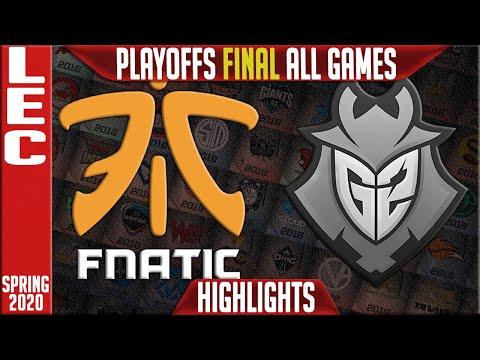 FNC vs G2 Highlights ALL GAMES | LEC Spring 2020 Playoffs GRAND FINAL | Fnatic vs G2 Esports