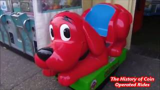 2000s Coin Operated Dog Kiddie Ride - Clifford the Big Red Dog