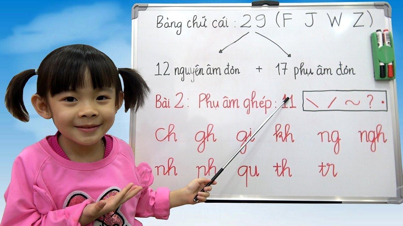 image Phụ Âm Ghép Tiếng Việt – Bé Học Bảng Chữ Cái Tiếng Việt ❤ AnAn ToysReview TV ❤