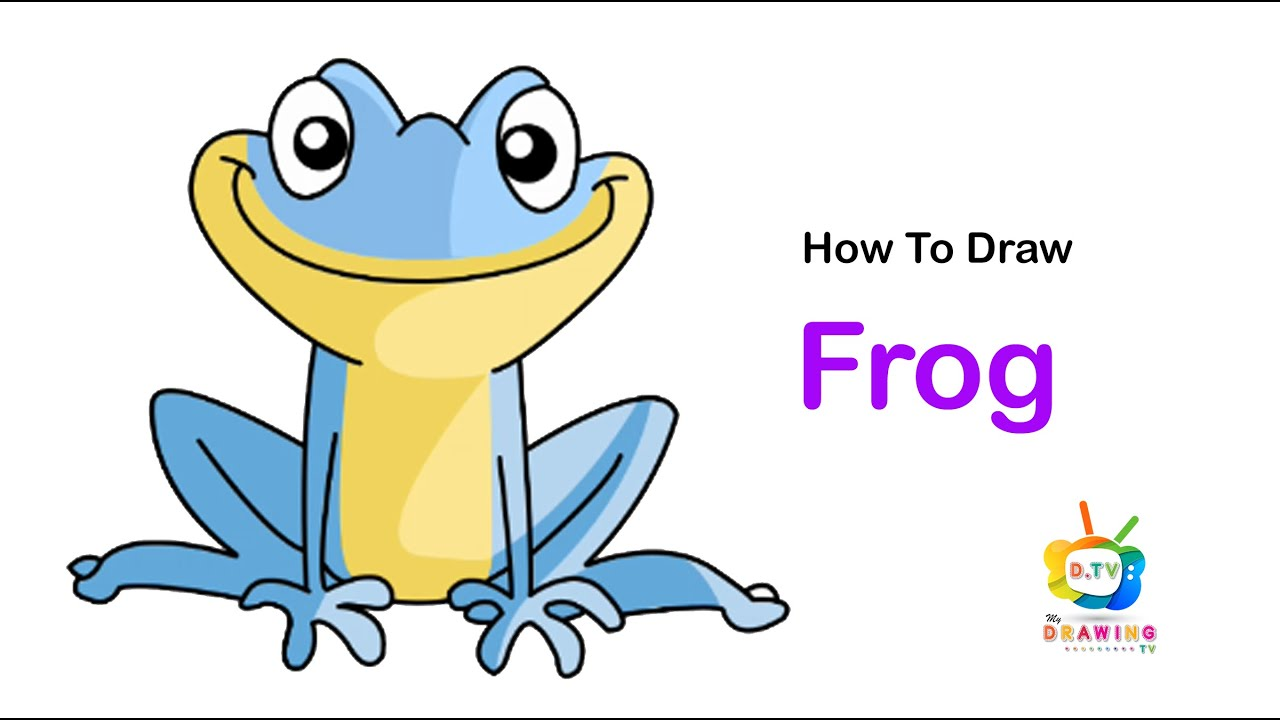 How To Draw A Frog   Easy Drawing Step By Step   #143 ...