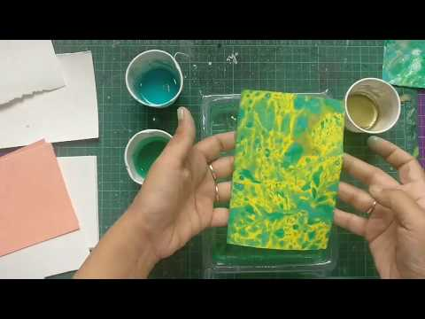 DIY Paper Marbelling with Oil paints