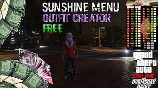 GTA V PC Online 1.42 Sunshine Mod Menu - FREE Outfit+RP HACK Undetected (showcase)