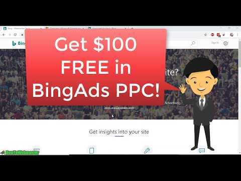 Get FREE $100 BingAds PPC Coupon Code Promo Voucher 😎