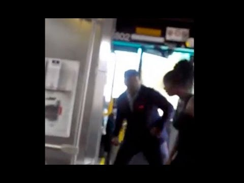 Black bus driver uppercut