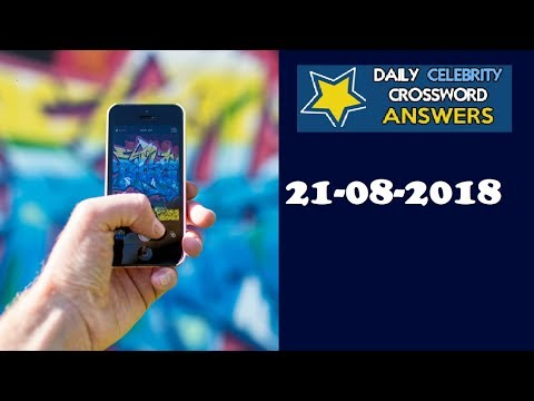 Daily Celebrity Crossword Puzzle Answers August 18 2018