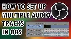 OBS Studio Tutorial - How to Split Audio into Multiple Audio Tracks