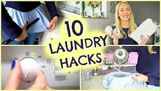 10 LAUNDRY HACKS, TIPS & LAUNDRY ROUTINE  |  EMILY NORRIS