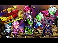 TOURNEY OF WARRIORS - TORNEIO DO PODER MARGED ZAMASU VS GOKU BLACK ROSE E CELL VEGETA BLUE FULL !