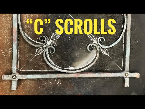 Forging C scrolls for a decorative grill
