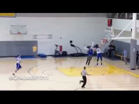 Anderson Varejão Dunk on Javale McGee in Warriors Practice