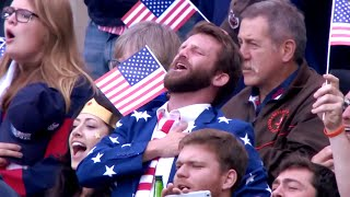 Most passionate USA anthem EVER?