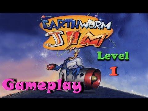 Earthworm Jim HD PS3 // Gameplay Level 1