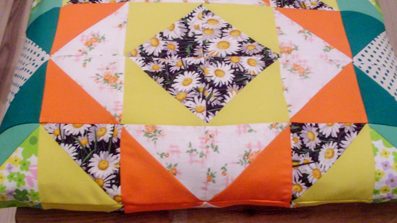Make Bright Patchwork Pillow - DIY Home - Guidecentral - YouTube : how to make quilts at home - Adamdwight.com