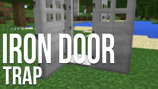 Minecraft:Pocket Edition Annoying Door Trap 100% Works!