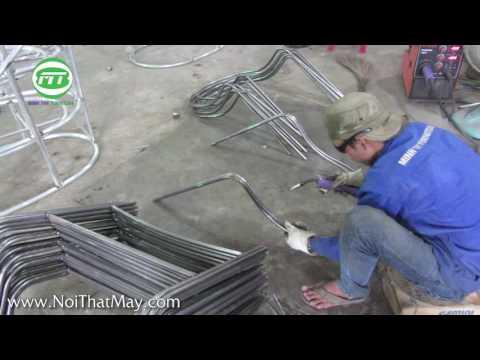 Video hướng dẫn sản xuất khung bàn ghế giả mây cafe sân vườn tại xưởng ra mẫu Minh Thy Furniture
