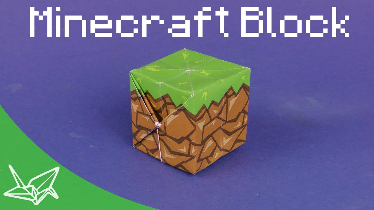Minecraft Block - Faltanleitung - YouTube