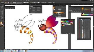 Download lagu [Học Illustrator] Vẽ con ong - Ứng dụng lệnh tô màu Part3