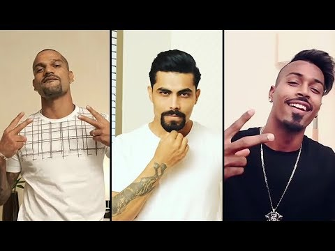 Indian Cricket Team Players Break the Beard Challange for Vivo IPl 2018