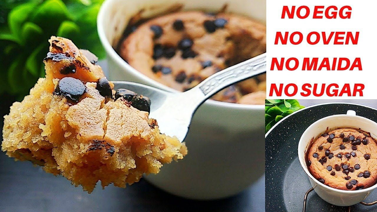 HEALTHY Cookie cake recipe WITHOUT OVEN | No Microwave Mug ...
