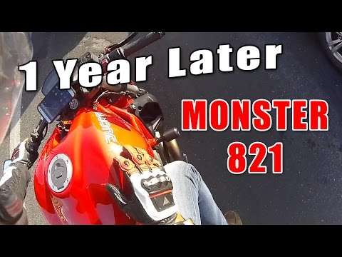 Ducati Monster 821 Owner Review - 1 Year Later