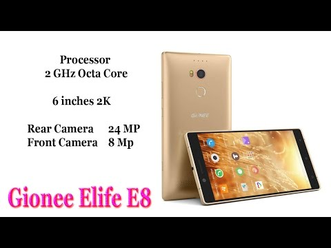 Gionee Elife E8 Mobile with Camera ( 24 MP / 8 MP ) Display ( 6 inches 2K ) 2017 HD