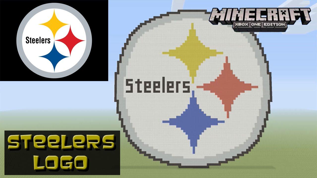 Minecraft Pixel Art Tutorial Pittsburgh Steelers Logo Nfl Youtube