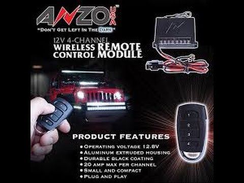 Accessory wiring without having to go into the cab (Anzo wireless
