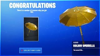 Cómo obtener GOLDEN UMBRELLA en Fortnite Battle Royale! (la verdad...)