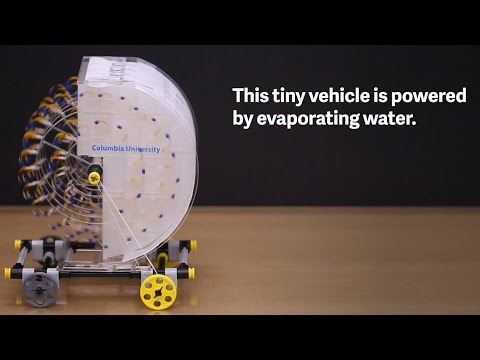 Capturing clean energy from evaporating water