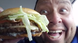 ?Jack In The Box White Cheddar Cheeseburger Review LIVE!
