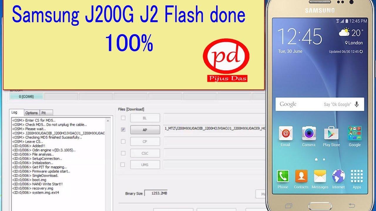 Samsung J200G J2 Flash done + VOLTE FILE Odin
