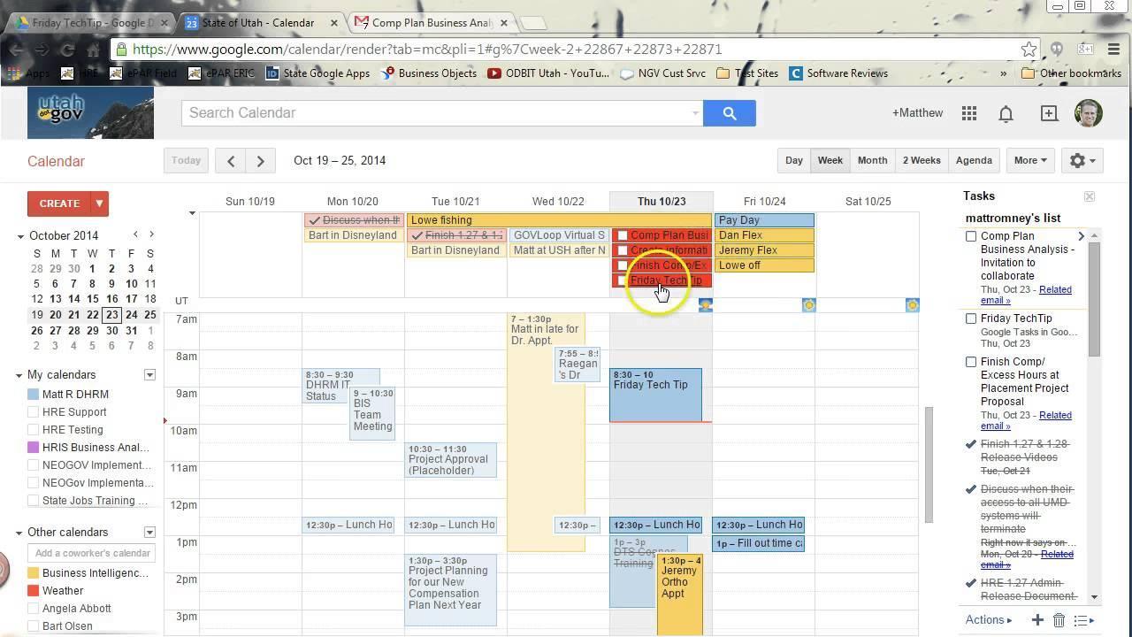 Google Kalender Tasks