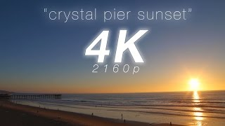 "2 HR 4K Nature: ""Crystal Pier Sunset"" San Diego Pacific Beach Real Time Relaxation Video"