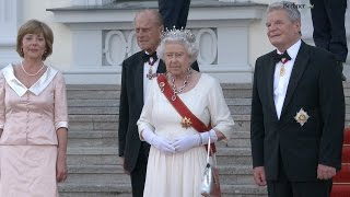 Queen Elizabeth in Berlin: Staatsbankett im Schloss Bellevue