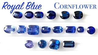 Royal blue or Cornflower Blue Sapphire? Clarification and understanding color of sapphires