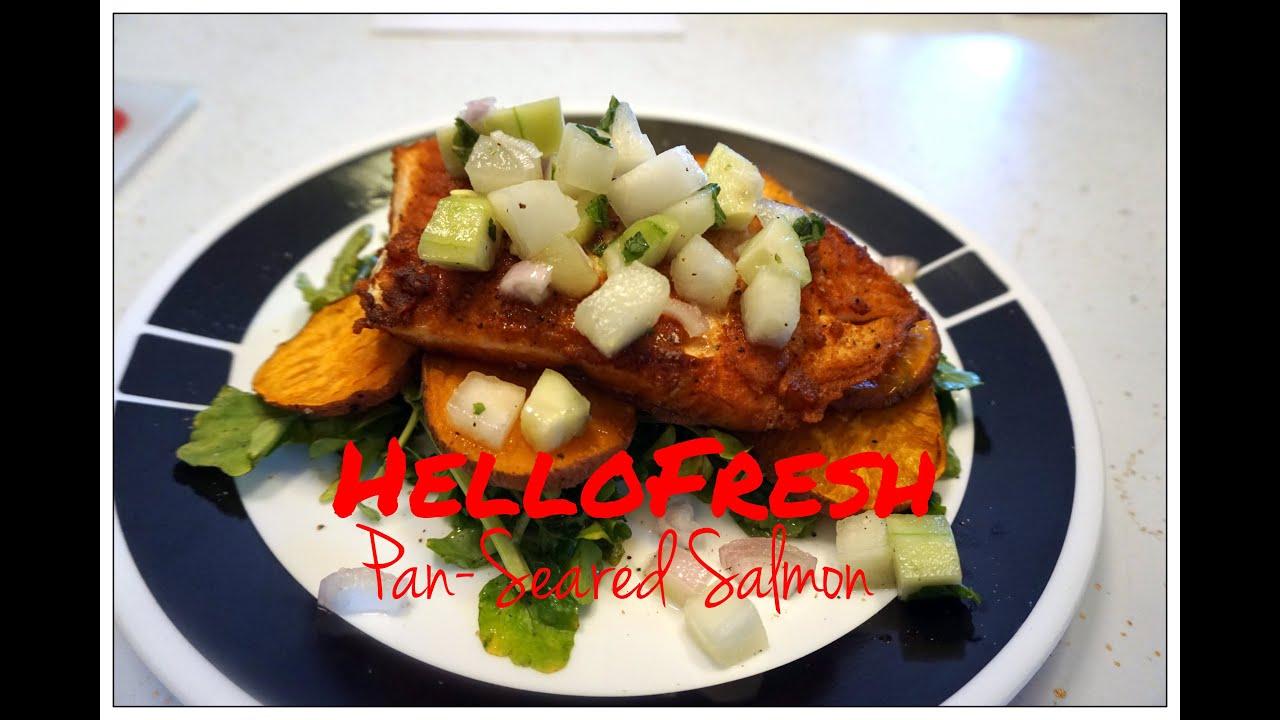 Pan-Seared Salmon With Plum-Cucumber Salad Recipes — Dishmaps