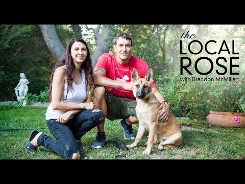 Shiva Rose & her new dog Luna meet w Animal Extraordinaire Brandon McMillan