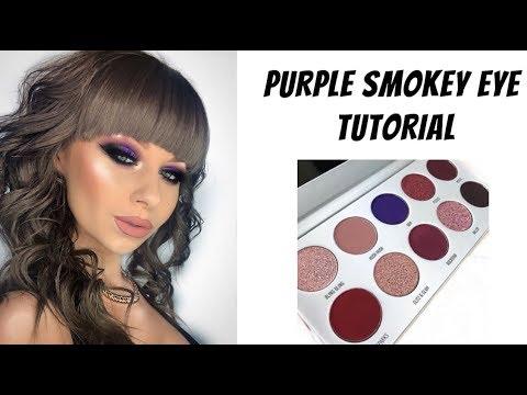 PURPLE SMOKEY EYE TUTORIAL ft MORPHE X JACLYN HILL BLING BOSS EYESHADOW PALETTE | Natalie Brown MUA thumbnail