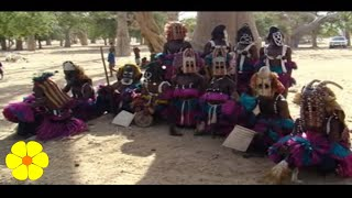 Dogon Ethnic Group in Mali Tribal Sounds African Drums - Tambores Tribu Etnica Sonido Tribal