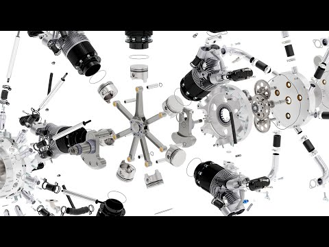 Radial Engine Assembly Animation