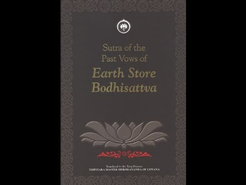 Sutra of the Past Vows of Earth Store Bodhisattva in English