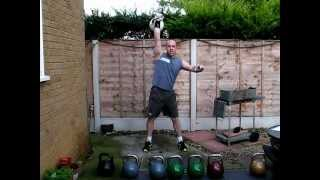 Kettlebell Training - Heavy kettlebell training routine and strength workout