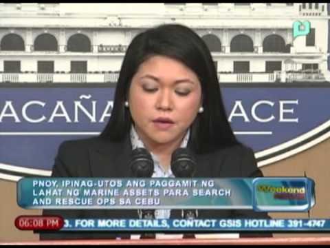 WN: PNoy, ipinag-utos ang paggamit ng lahat ng Marine assets para sa search & rescue ops sa Cebu