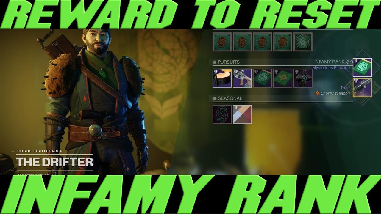 HOW TO RESET YOUR INFAMY RANK IN GAMBIT AND THE WINNING PRIZE