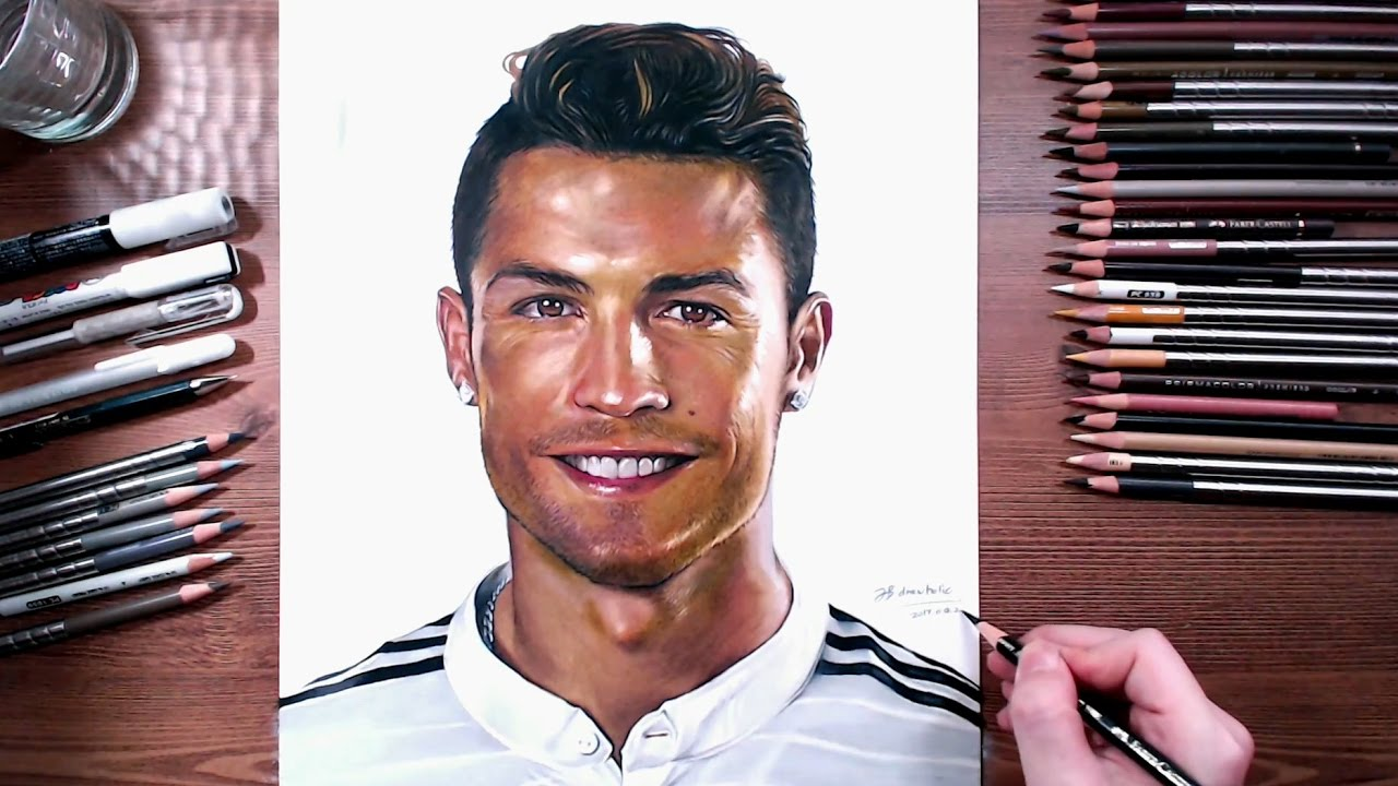 Cristiano ronaldo speed drawing drawholic