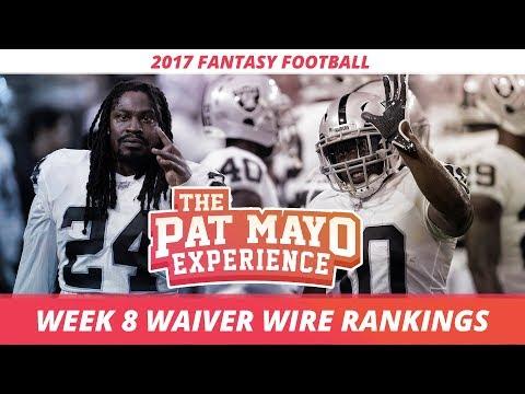 2017 Fantasy Football - Week 8 Waiver Wire Rankings, Injuries, Recap + MORE
