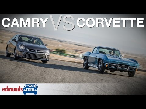 '66 Corvette vs Toyota Camry | Classic American Sports Car Against a Modern Midsize Sedan