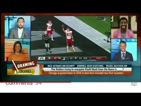 Las Vegas Raiders ESPN Nick Wright Hates On Raiders Over Kahlil Mack Rumor By Eric Pangilinan